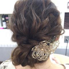 ロープ編み 編み込み ヘアアレンジ セミロング ヘアスタイルや髪型の写真・画像