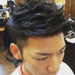 ストリート パーマ 黒髪 ショート ヘアスタイルや髪型の写真・画像