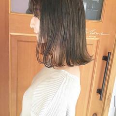 ロブ モード ミディアム 外ハネ ヘアスタイルや髪型の写真・画像