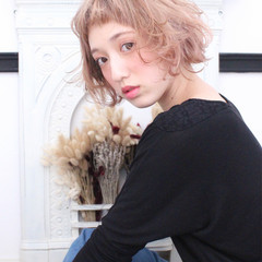 外国人風 色気 ナチュラル ボブ ヘアスタイルや髪型の写真・画像