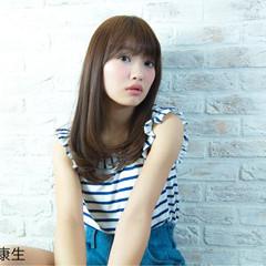 大人かわいい フェミニン ナチュラル 艶髪 ヘアスタイルや髪型の写真・画像
