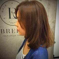 ゆるふわ セミロング ナチュラル ベース型 ヘアスタイルや髪型の写真・画像