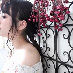 大人女子 ナチュラル セミロング リラックス ヘアスタイルや髪型の写真・画像