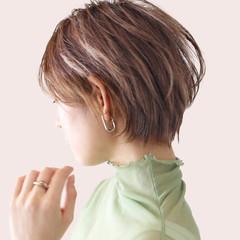 ハンサムショート ショートヘア アッシュ ショートボブ ヘアスタイルや髪型の写真・画像