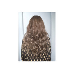 グラデーションカラー アッシュ ハイライト ロング ヘアスタイルや髪型の写真・画像