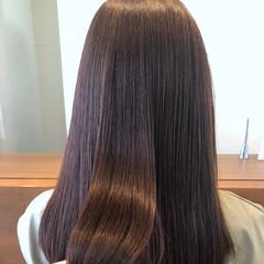 オフィス 女子力 セミロング 透明感 ヘアスタイルや髪型の写真・画像