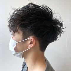 スパイラルパーマ メンズヘア メンズ ショート ヘアスタイルや髪型の写真・画像