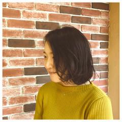 ボブ 暗髪 ナチュラル 色気 ヘアスタイルや髪型の写真・画像