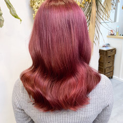 ピンク ピンクパープル ピンクカラー ピンクベージュ ヘアスタイルや髪型の写真・画像