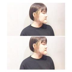 ナチュラル グレージュ ショート マッシュ ヘアスタイルや髪型の写真・画像