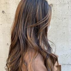3Dハイライト 大人かわいい ロング ナチュラル ヘアスタイルや髪型の写真・画像