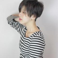 モード インナーカラー ベリーショート 冬 ヘアスタイルや髪型の写真・画像