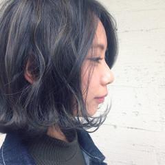 外国人風 パーマ ボブ 色気 ヘアスタイルや髪型の写真・画像