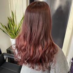 ピンクベージュ ロング ピンクブラウン フェミニン ヘアスタイルや髪型の写真・画像
