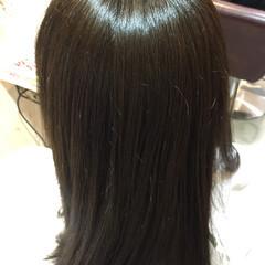 グレージュ 外国人風 アッシュ セミロング ヘアスタイルや髪型の写真・画像