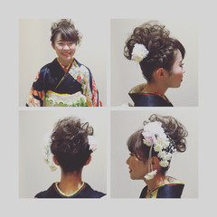 ショート ヘアアレンジ 成人式 ヘアスタイルや髪型の写真・画像