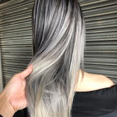 外国人風カラー ハイライト ストリート ロング ヘアスタイルや髪型の写真・画像