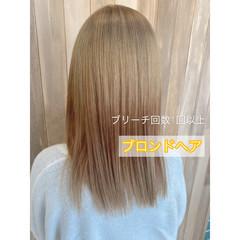 ミディアム ハイトーン モード 外国人風カラー ヘアスタイルや髪型の写真・画像