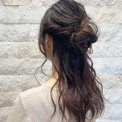 結婚式 ハーフアップ ロング ヘアアレンジ ヘアスタイルや髪型の写真・画像