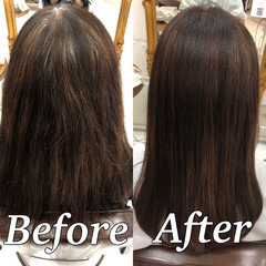 ツヤ髪 髪質改善トリートメント 美髪 縮毛矯正 ヘアスタイルや髪型の写真・画像