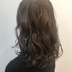 ふわふわ 色気 セミロング デート ヘアスタイルや髪型の写真・画像