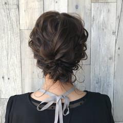 ミディアム ヘアアレンジ ハイライト ナチュラル ヘアスタイルや髪型の写真・画像