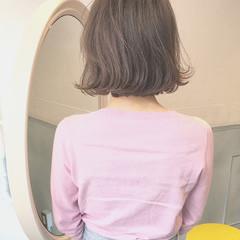 ハイライト ロブ ボブ ナチュラル ヘアスタイルや髪型の写真・画像