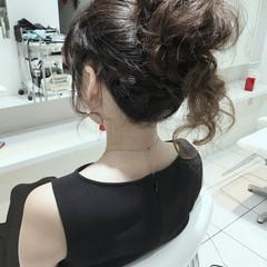 ハーフアップ ヘアアレンジ セミロング 簡単ヘアアレンジ ヘアスタイルや髪型の写真・画像