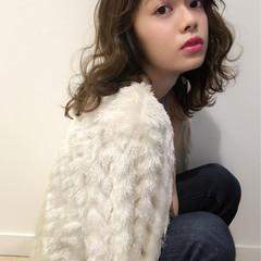 ガーリー ゆるふわ ミディアム 外国人風 ヘアスタイルや髪型の写真・画像