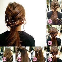 女子会 ヘアアレンジ ロング フェミニン ヘアスタイルや髪型の写真・画像