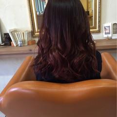 セミロング グラデーションカラー ナチュラル 黒髪 ヘアスタイルや髪型の写真・画像