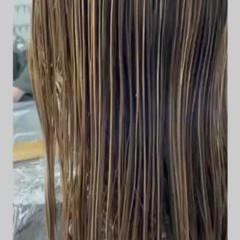 3Dハイライト 透明感カラー ハイライト 大人ハイライト ヘアスタイルや髪型の写真・画像