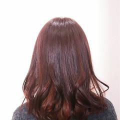 上品 セミロング ピンク ピンクアッシュ ヘアスタイルや髪型の写真・画像