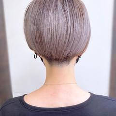 大人かわいい 簡単スタイリング 刈り上げショート ショートヘア ヘアスタイルや髪型の写真・画像