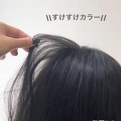 ミディアム ブルージュ 透明感カラー グレーアッシュ ヘアスタイルや髪型の写真・画像