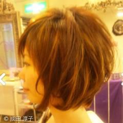 モテ髪 丸顔 ボブ ガーリー ヘアスタイルや髪型の写真・画像