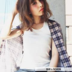 ショート ミディアム モテ髪 コンサバ ヘアスタイルや髪型の写真・画像
