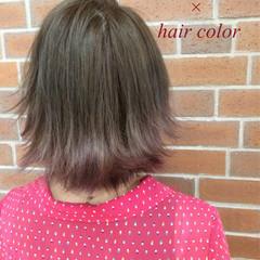 ボブ ストリート ハイライト グラデーションカラー ヘアスタイルや髪型の写真・画像