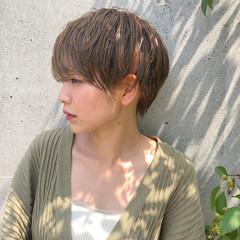 ベリーショート ショート ナチュラル 大人女子 ヘアスタイルや髪型の写真・画像