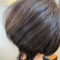 ベリーショート ショートボブ エレガント 白髪染め ヘアスタイルや髪型の写真・画像