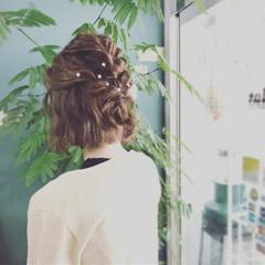 ナチュラル ボブ 結婚式 パーティ ヘアスタイルや髪型の写真・画像
