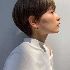 マッシュショート ショート ナチュラル 外国人風カラー ヘアスタイルや髪型の写真・画像