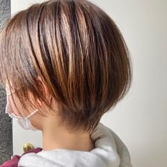 グレージュ シースルーバング ベリーショート 大人女子 ヘアスタイルや髪型の写真・画像