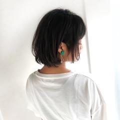 涼しげ デート 夏 前髪あり ヘアスタイルや髪型の写真・画像