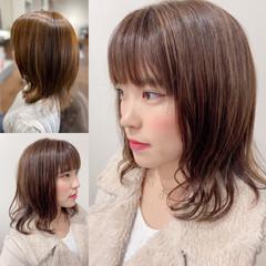 髪質改善カラー 無造作パーマ エレガント ハイライト ヘアスタイルや髪型の写真・画像