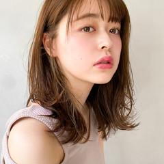 韓国ヘア アウトドア 透明感カラー ナチュラル ヘアスタイルや髪型の写真・画像