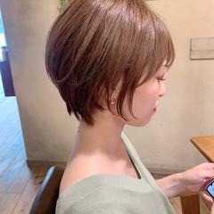 インナーカラー ショートヘア ショートボブ ミニボブ ヘアスタイルや髪型の写真・画像