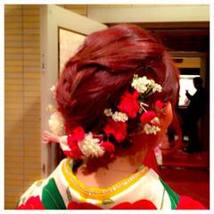 簡単ヘアアレンジ 大人かわいい 袴 ゆるふわ ヘアスタイルや髪型の写真・画像