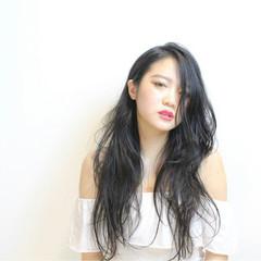 艶髪 波ウェーブ モード ピュア ヘアスタイルや髪型の写真・画像