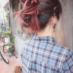 ヘアアレンジ スポーツ セミロング ストリート ヘアスタイルや髪型の写真・画像